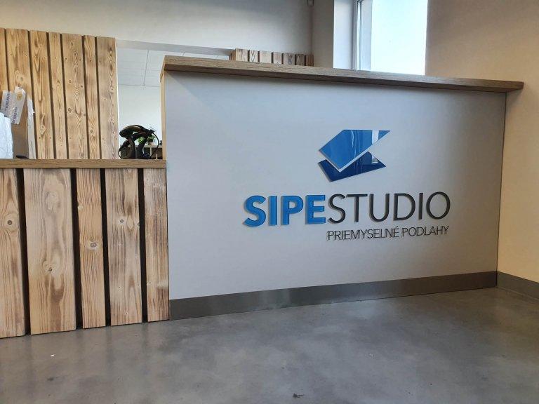 Farebné 3D plexi logo Sipe studio