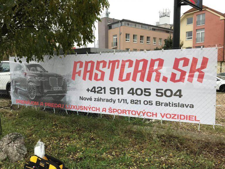 Reklamný baner Fastcar.sk